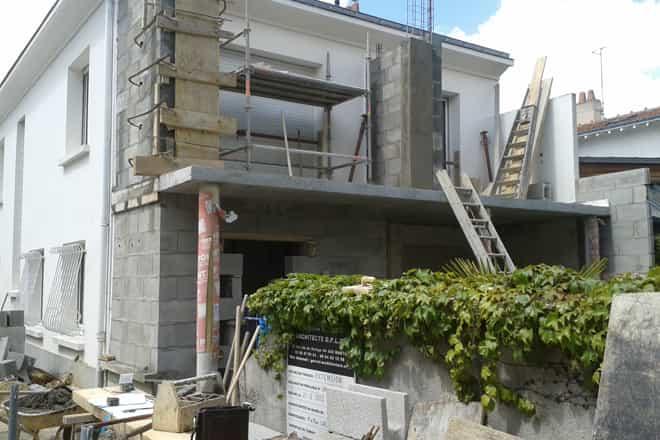 extension de balcon pour maison prolongation du rez de chauss e nantes architecte. Black Bedroom Furniture Sets. Home Design Ideas