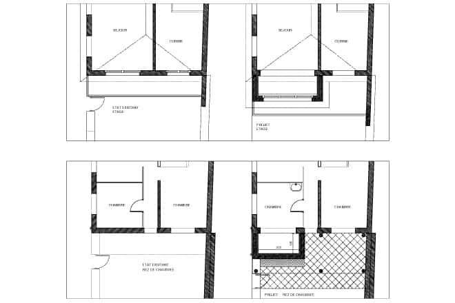 Extension de balcon pour maison prolongation du rez de for Extension maison 1900