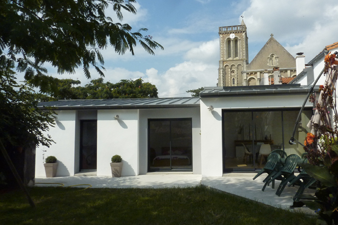 extension sur jardin la varenne architecte dplg nantes gervot fran oise. Black Bedroom Furniture Sets. Home Design Ideas
