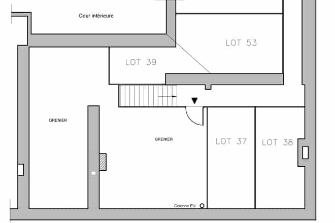 plan appartement sous comble